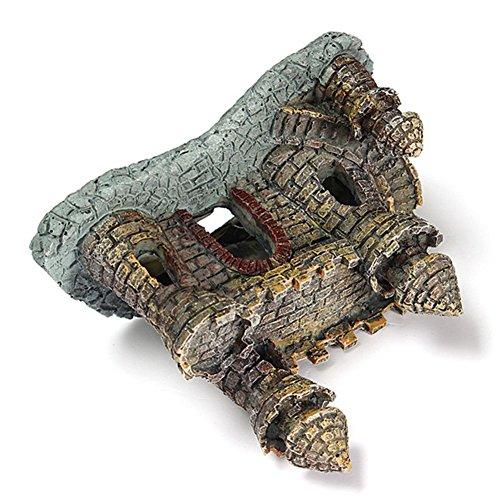 Castillo medieval de resina para peceras, acuarios, estanques de agua: Amazon.es: Hogar