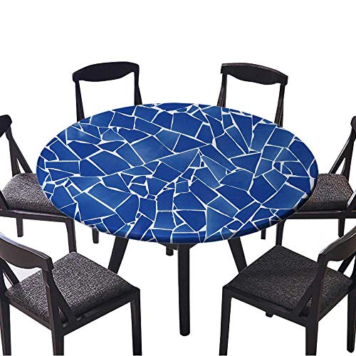 f51caae3fe Picnic Circle Table Cloths Blue trencadis Broken Tiles Mosaic from  Mediterranean in Valencia Spain for Family Dinners or Gatherings 50