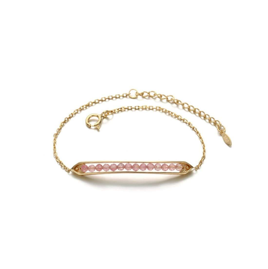 YIYIYYAレディースブレスレットS925スターリングシルバー繊細なジルコンエンドウ形の調節可能な結婚式の宝石類レディースジュエリーギフト、01   B07M5B3ZM8
