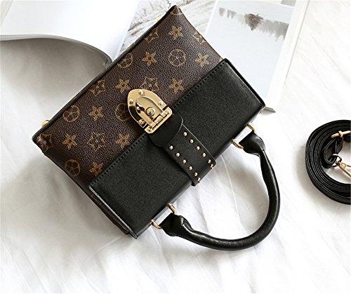Bolsos de señora Xinmaoyuan hembra bloqueo hombro bolsa oblicua portátil simple bolsa de transporte,negro Negro