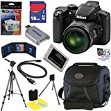 "Nikon COOLPIX P510 16.1 MP CMOS Digital Camera with 42x Zoom and ""GPS"" (Black) + EN-EL5 Battery + 9pc Bundle 16GB Deluxe Accessory Kit, Best Gadgets"