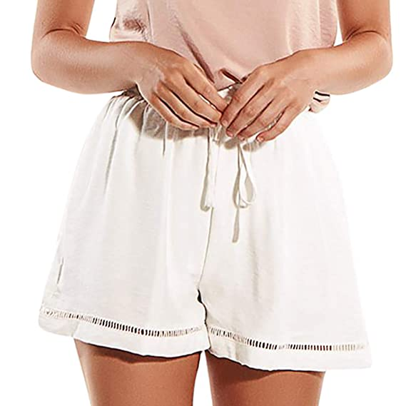 7ba42d84e7 QinMMROPA Mujer Pantalones Cortos Cintura Alta