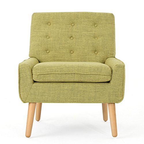 Christopher Knight Home 301885 Eilidh Buttoned Mid Century Modern Muted Green Fabric Chair, - 2