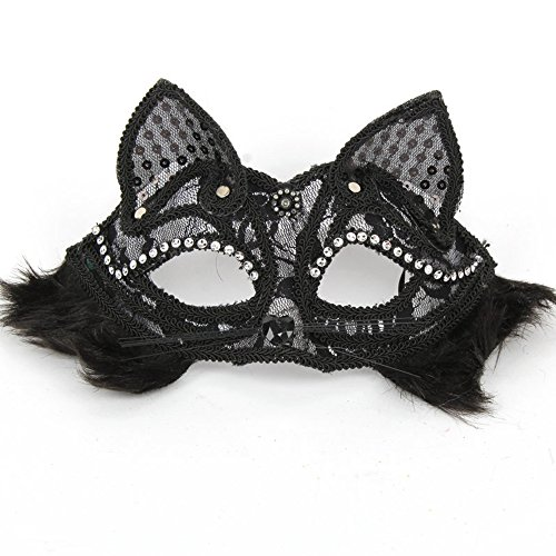 Zupo Masquerade Mask Sexy Princess Mask Fox Lace Catwoman Mask For Night Party Halloween Mardi Gras - Mardi Gras Costumes Houston