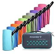 4Monster Mikrofaser Handtücher in 10 Farben, Schnelltrocknendes Sporthandtuch Saugfähig, Ultra Leichtes Reisehandtuch…