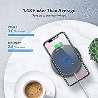 UGREEN Cargador Wireless Cargador Inalámbrico Rápido 10W,Cargador Inalámbrico para iPhone8/X/XS,AirPods,Samsung S9/S8/Note8 ...