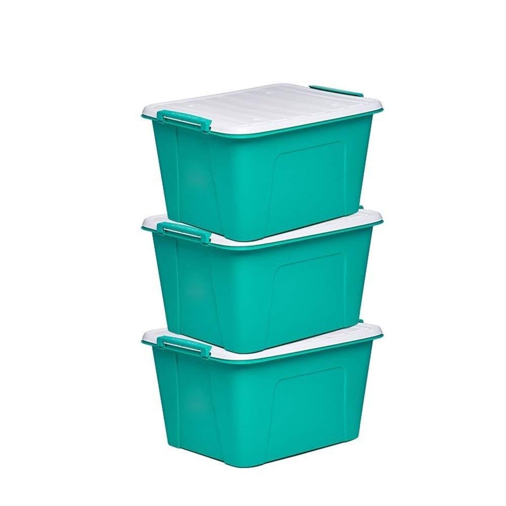 スリーピース収納ボックス、ワードローブオフィスコンテナベッド収納ボックスベッドライニング掛け布団帽子収納ボックス防湿バックル (色 : 緑) B07RDFPS5H 緑