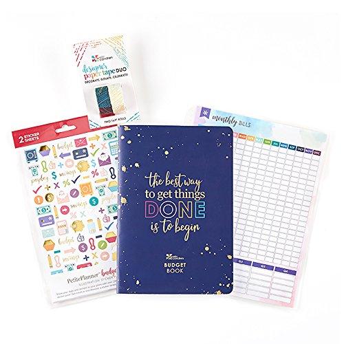 Erin Condren Erin Condren Budget Starter Pack: Budget PetitePlanner, Monthly Bill Tracker Dashboard, Designer Paper Tape Duo