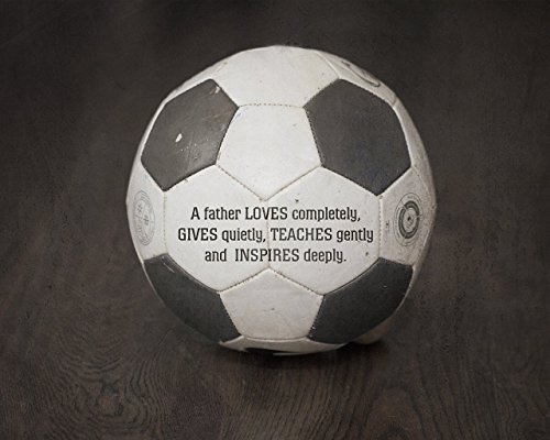 Soccer Gift for Home, Inspirational Father Quote Sports Photograph Art Print by Inspired Art Prints