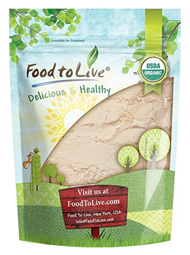 Organic Coconut Flour by Food to Live (Non-GMO, Kosher, Raw, Vegan, Unsweetened, Unrefined, Unsulfured Fine Powder, Bulk, Great for Baking) — 1 Pound