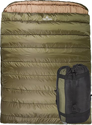 Mammoth 0-Degree Queen Size Sleeping Bag for staying warm camping in a tent with tips to stay warm when camping
