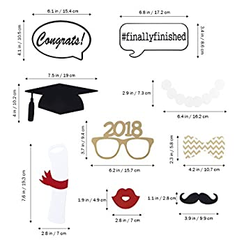 Graduation Photo Props Graduation Phtoto Booth Props Oulii 2018 Graduation Party Decorations Pack Of 17 7