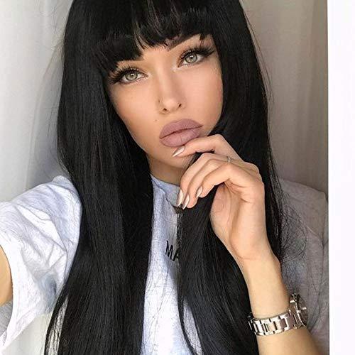 Amazon Com Aisi Hair Straight Long Black Wig Synthetic Hair