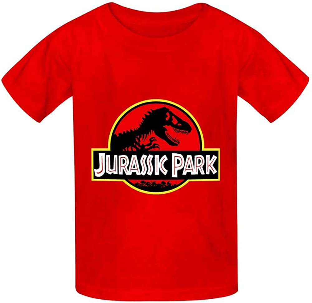 Xusnjv Jura-ssic Park T Shirt Boys and Girls Casual Round Neck Short Sleeve T-Shirts Cotton