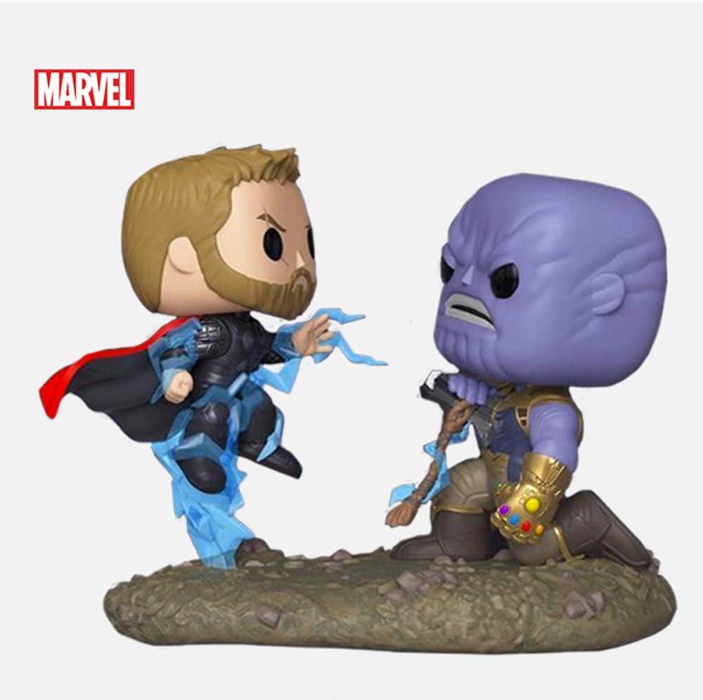 WangQ Modelo - Funko 35799 Pop Bobble 2-Pack: Marvel: Momentos de la película: Thor vs Thanos: Amazon.es: Hogar