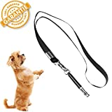 Alinee Dog Whistle, Dog Whistle to Stop Barking, Dog Obedience Training Adjustable High Pitch Ultrasonic Tool, Sonic Sound Lanyard Strap Whistle (Black)