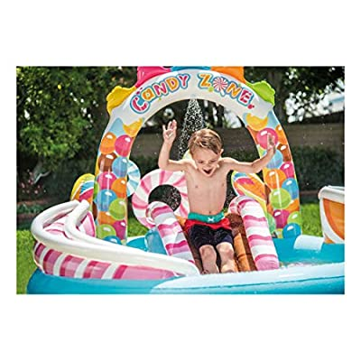 Inflatable Kids Candy Zone Water Play Center Swimming Pool 57149EP: Garden & Outdoor