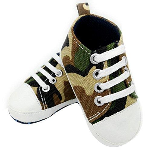 BURFLY - Zapatos primeros pasos de Lona para niño Army Green