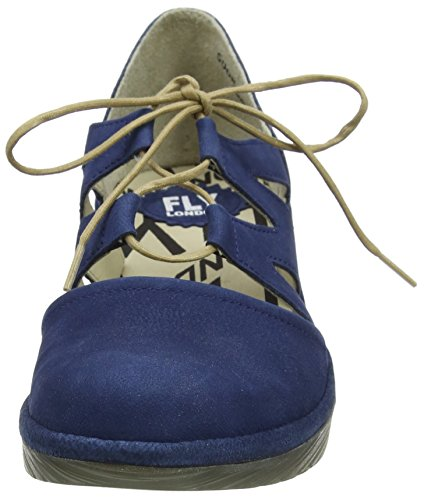 Fly London Phis843fly, Scarpe col Tacco Punta Chiusa Donna Blu (Blue)