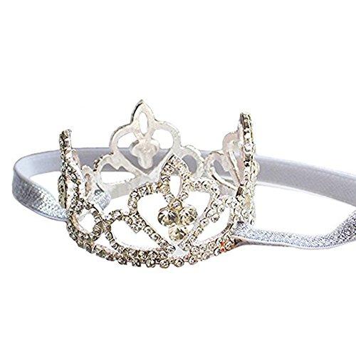 Princess Birthday Girl Tiara Headband Newborn Pageant Headdress Props Toy Jewelry, Princess Tiaras Costume (S)]()