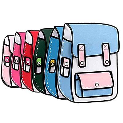 hot sale 2D Drawing Cartoon Bag Comic Backpack Messenger Tote