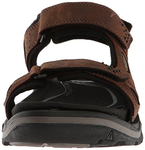 Keen - Sandalias deportivas de Piel para hombre marrón marrón Dark Earth/Black