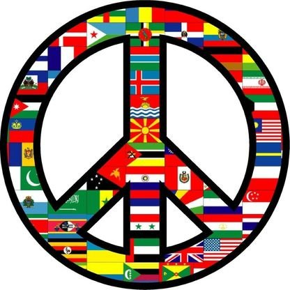 World Peace Sign Symbol Bumper Sticker Helmet Sticker Laptop Sticker