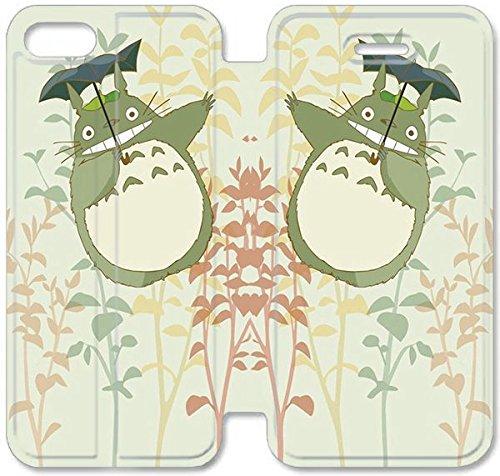 Flip étui en cuir PU Stand pour Coque iPhone 5 5S, bricolage 5 étui de téléphone cellulaire 5S Mignon Mon Voisin Totoro étui en cuir H2T0FB Coque iPhone 3D en plastique