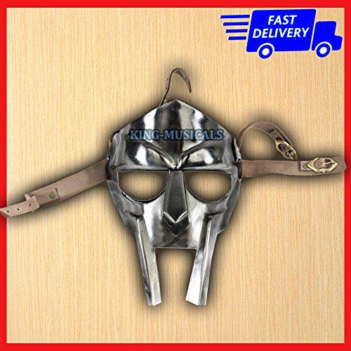 Mf Doom Halloween Costume (New Gladiator face mask helmet Hand-Forged sca-larp-helmet-roman-armor-mf doom)