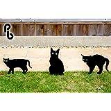 Set de 3 Siluetas de Gatos Ahuyentadores con Ojos en Relieve PestBye