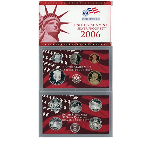 2006 S US Mint 10 Coin Silver Proof Set Original Government Packaging