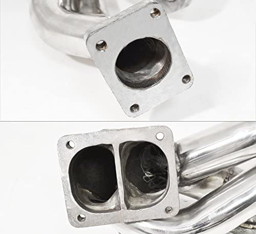 AJP Distributors 13B-Rew Stainless Steel Turbo Exhaust Manifold With Wastegate Flange For Mazda Rx7 Fd Fd3S R2 1.3 Liter 1993 1994 1995 1996 93 94 95 96
