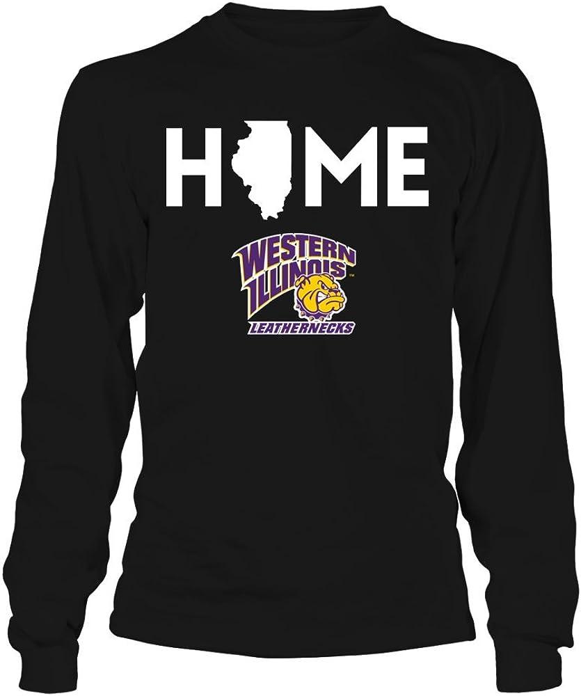 FanPrint Western Illinois Leathernecks T-Shirt - Home State - Longsleeve Tee/Black / 2XL