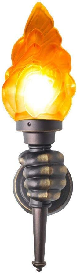 XYJGWBD Lámpara de Pared de la Vendimia Creativa LED Iluminación Interior Arte de Hierro Efecto de Quema de Fuego Luces de la decoración Antorcha de luz de la Pared