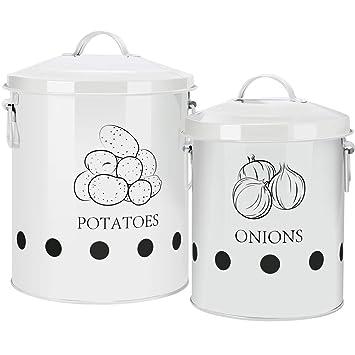 Ga Homefavor Kartoffel Vorratsdose Metall Obst Und Gemüsekorb