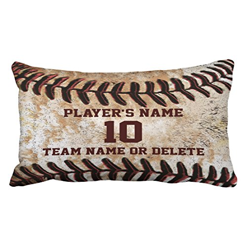 Accrocn Pillowcases Vintage Chic Personalized Senior Baseball Can Customized For Gift Cushion Decorative Pillowcase Polyester 20 x 36 Inch Rectangl King Size Pillow Covers Hidden Zipper