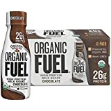 Organic Valley, Organic Fuel High Protein Milk Shake, 26G Protein, Chocolate, 11 ounces (Pack of 12)