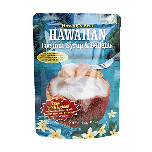 Kauai Tropical Syrup Hawaiian Coconut Syrup and Delights, 4 Ounce