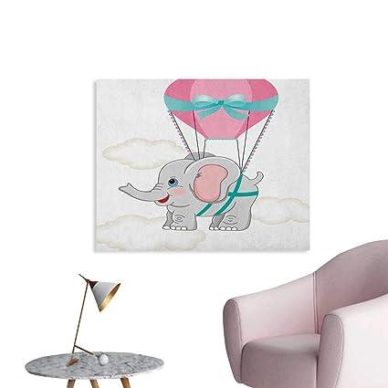 amazon com unprecall nursery wall paper baby elephant with hot air