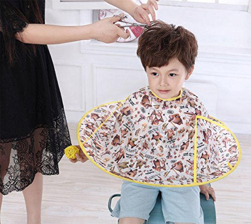 Kids Haircut Cape Salon Hair Cutting Waterproof Shampoo Umbrella