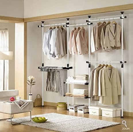 Deluxe Pants U0026 Shelf Hanger | Clothing Rack | Closet Organizer