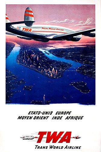 Digital Fusion Prints TWA (Trans World Airlines) Vintage Travel Poster  24