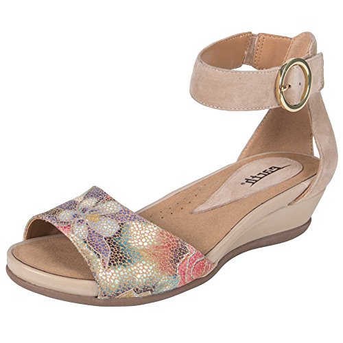 Earth Womens Hera Fabric Open Toe Casual Ankle Strap Sandals Beige-floral lowest price cheap online cheap best outlet 2014 newest the cheapest good selling cheap price 5bxaL