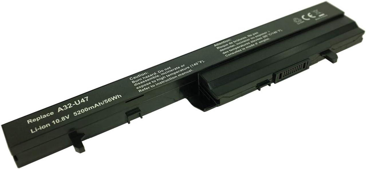 Q400A 5200 mAh A42-U47 U47-BGR4 PowerSmart Q400 A41-U47 A32-U47 Bater/ía para ASUS 0B110-00090000 U47A 0B110-00090300 U47 0B110-00090100