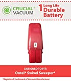 Crucial Vacuum High Capacity Red Vacuum Battery Fits Ontel Swivel Sweeper G1 & G2; Compare to Part # RU-RBG; Designed & Engineered by Crucial Vacuum