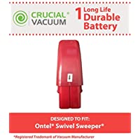 Crucial Vacuum High Capacity Red Vacuum Battery Fits Ontel Swivel Sweeper G1 & G2; Compare to Part # RU-RBG; Designed & Engineered