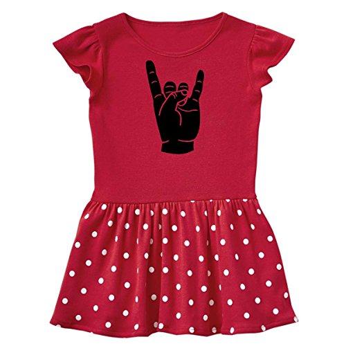 (inktastic - Rocker Horns Infant Dress 18 Months Red and Polka Dot 18b1d)