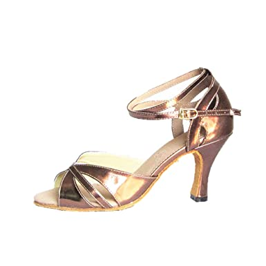 e0d4e27a513 LL Aux femmes Creux Chaussures de danse latine Antidérapant Poids léger  Fond mou Chaussures de danse de salon Métal Boucle Talon haut Chaussures de  danse ...