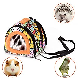 Portable Small Animals Carrier Bag, Rats Sugar Glider Small Guinea Pig Rat Chinchillas Hamster Hedgehog Carrier Pouch…