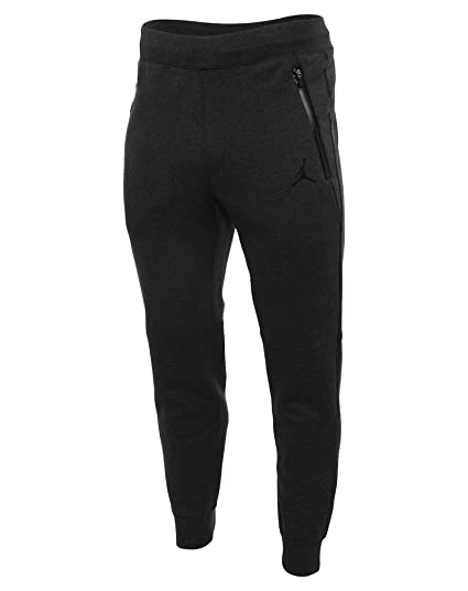 ef3e43213a5931  688994-032  AIR JORDAN AJ FLEECE PANT APPAREL PANTS AIR JORDAN HEATHER  BLACK